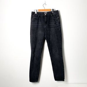 SWS Black Vintage Style High Rise Mom Jeans